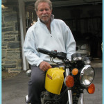 Jeffrey Dobkin on Motorcycle