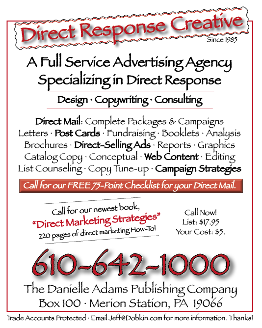 Direct Marketing Sample Ad · Jeffrey Dobkin